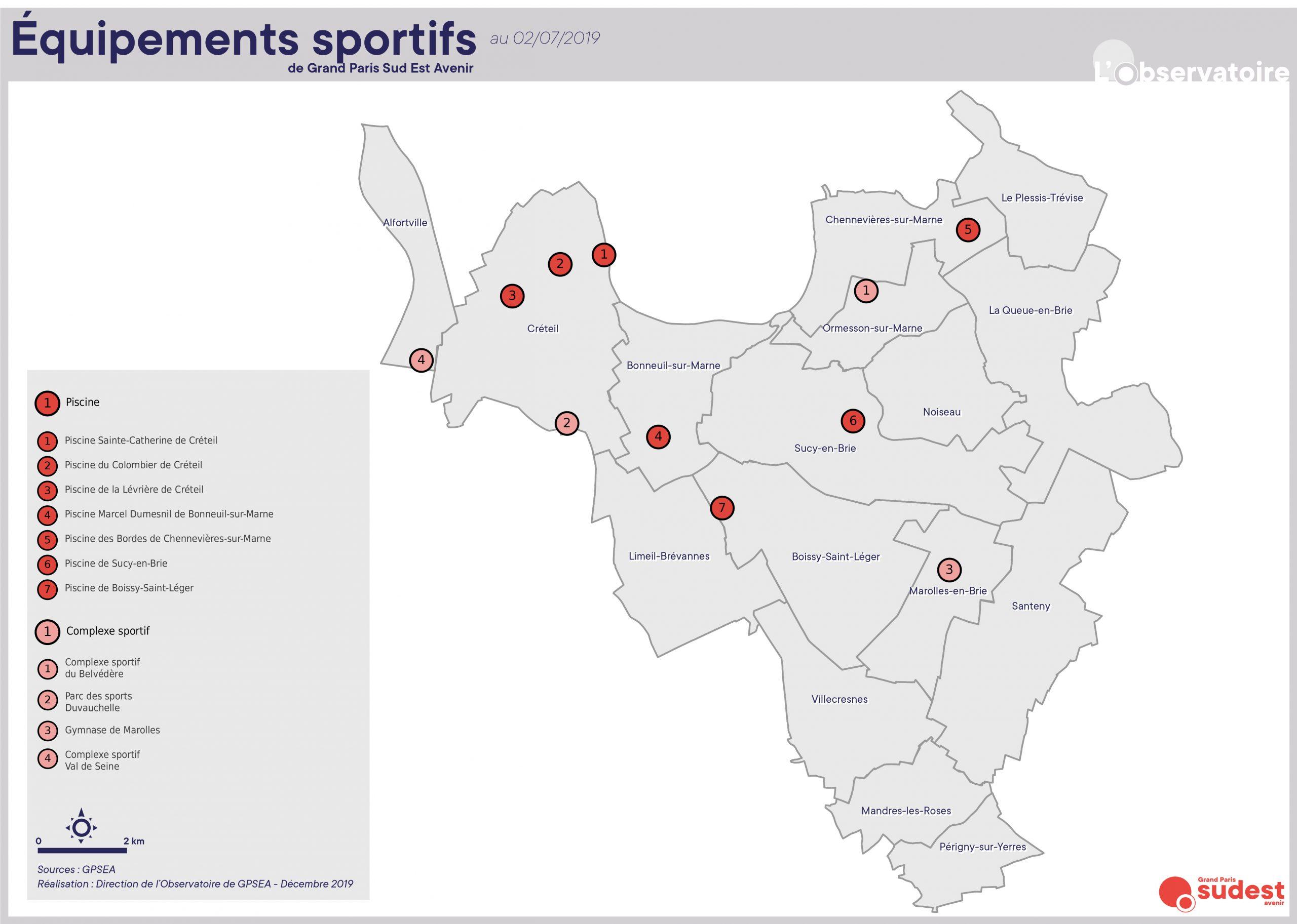 équipements sportifs carte