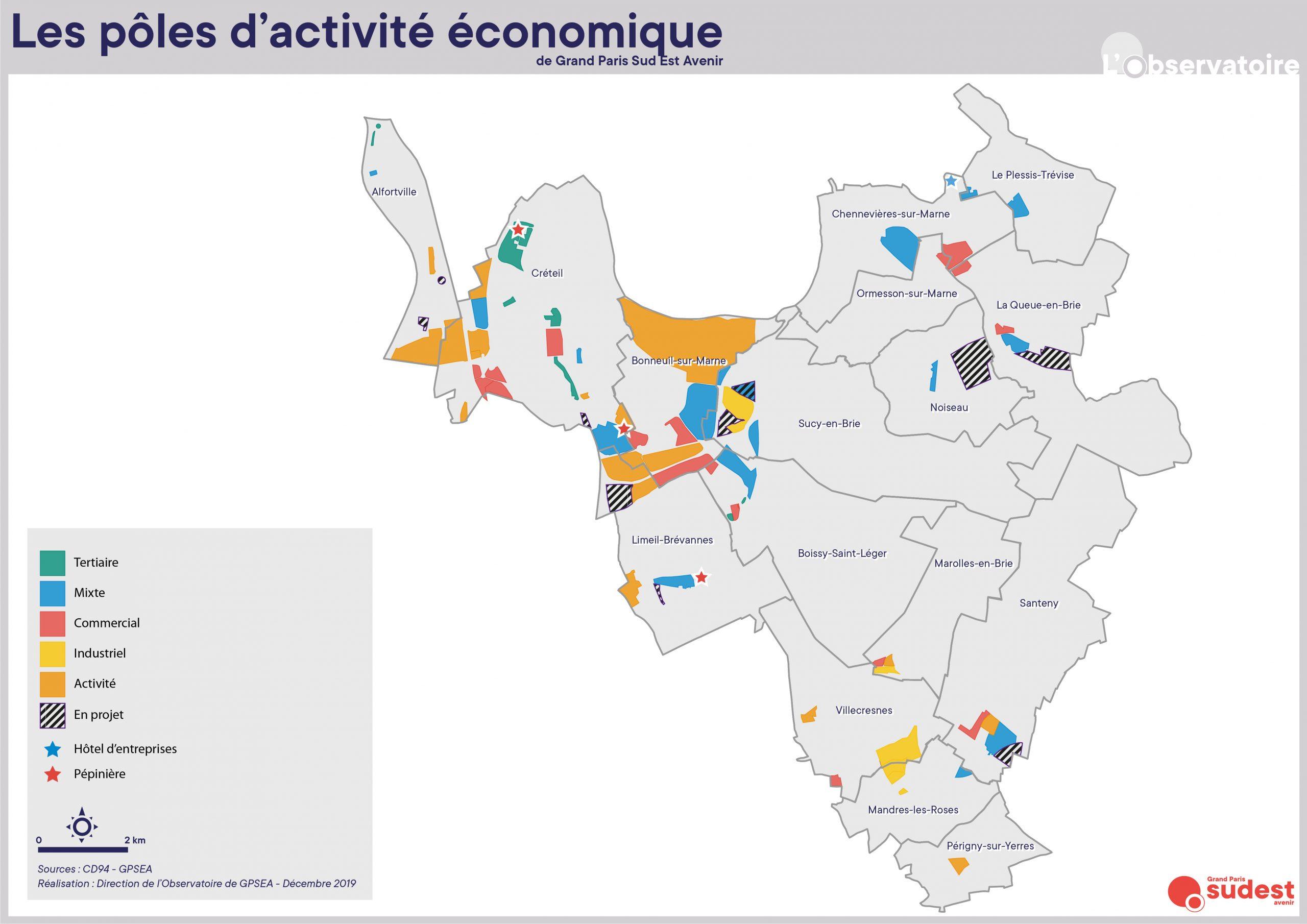 pole activité économique carte