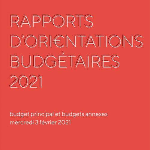 Rapport d'orientations budgétaires 2021